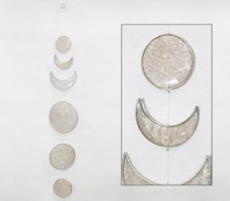 Suncatcher Mondphasen 50cm Girlande transparent BALI
