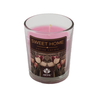 Duftkerze Sweet Home im Glas 60g 12 Stck im Display