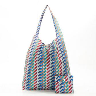 Einkaufstasche ECO CHIC Geometrisch bunt faltbar Nylon 56x38x10cm