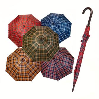 Regenschirm automatisch kariert 120cm 5ass zufällig gemischt
