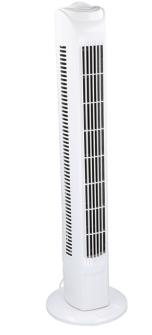 Ventilator Säulenventilator mit Drehfunktion, weiss 78cm 45W  3 Stufen 80x16x19cm