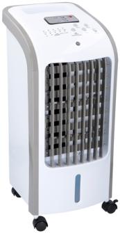 Ventilator Bodenventilator u. Raumluftbefeuchter mit Fernbedien, weiss 62W  3 Stufen 51x23x24cm