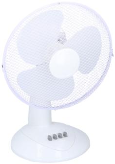 Ventilator Tischventilator mit Drehfunktion, weiss 38cm 38W  3 Stufen 38x16x18cm
