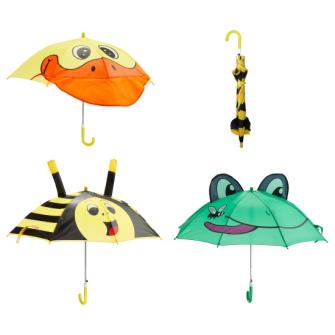 Regenschirm Kinder 3 Tiere ass