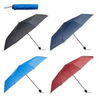 Taschenregenschirm 4 Farben uni ass