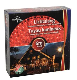 Lichterkette Weihnachten 6m Rot für Aussenbereich