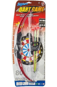 Pfeil und Bogen Set mit Zielscheibe 21x52cm