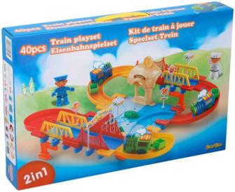 Spielset Eisenbahn 40tlg
