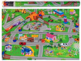 Spielmatte City 10tlg 80x120cm 12 Stck im Display