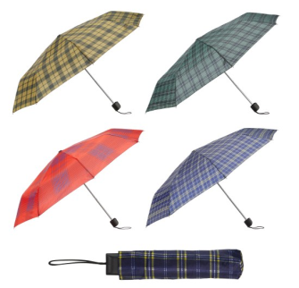 Taschenregenschirm Karo 4 Farben ass