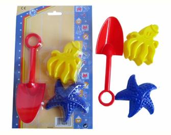 Sandspielzeug 3tlg auf Blister
