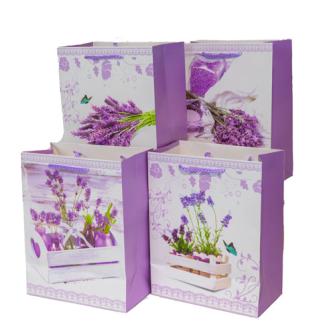 Geschenktasche Lavendel hell 18x23x10cm