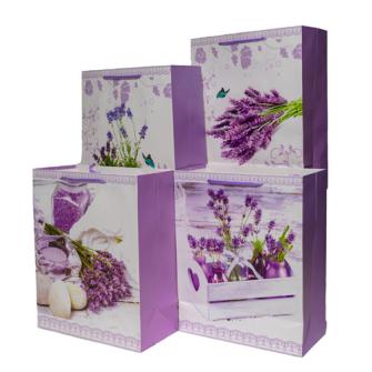 Geschenktasche Lavendel hell 26x32x12cm