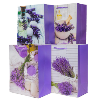 Geschenktasche Lavendel dunkel 18x23x10cm