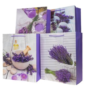 Geschenktasche Lavendel dunkel 26x32x12cm