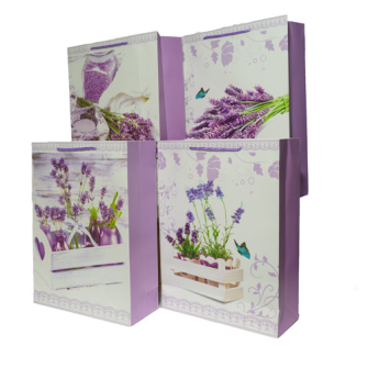 Geschenktasche Lavendel hell 31x42x12cm