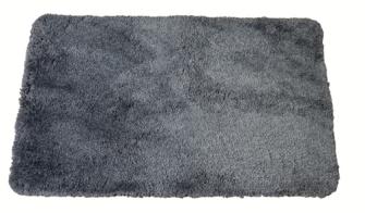 Badeteppich 50x80cm grau flauschig dick