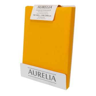 AURELIA Fixleintuch-Jersey 90x200 Yellow/Curry