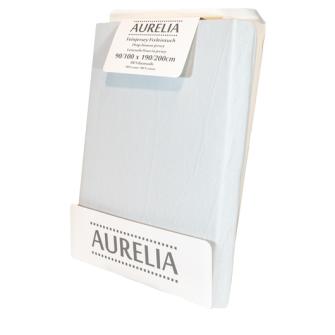 AURELIA Fixleintuch-Jersey 90x200 Silber