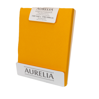 AURELIA Fixleintuch-Jersey 160x200 Yellow/Curry