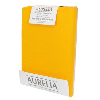 AURELIA Fixleintuch-Jersey 180x200 Yellow/Curry