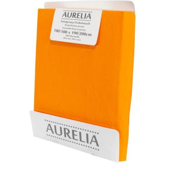 AURELIA Fixleintuch-Jersey 180x200 Orange