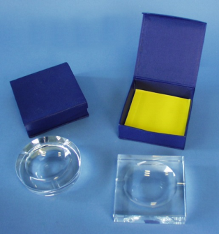 Aschenbecher Glas schwere Qualität 2ass D10cm