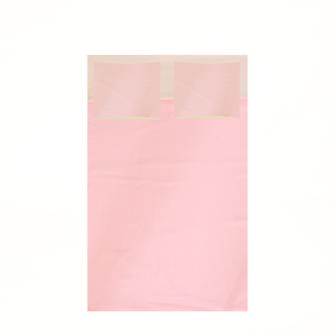 Bettgarnitur uni 200x210cm und 2x 65x65cm sandfarben und pink 100% Baumwolle