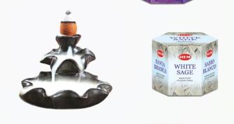 Räucherkegel HEM Rückfluss 40er WHITE SAGE (weisser Salbei)