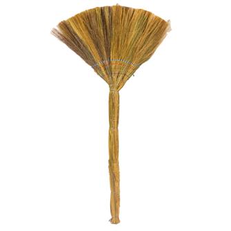 Besen Natur 95cm aus Stroh 50cm breit