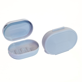 Seifenbox 12.5x8.5x4.5cm grau