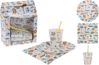 Partyset für Kinder 41tlg Papier