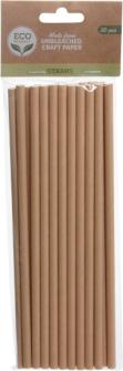 Trinkhalme 20 Stk 19cm Kraftpapier