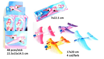 Flugzeuge 4 Farben ass 17x20cm 48 Stk im Display