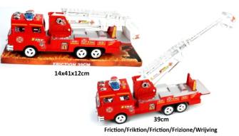 Feuerwehrauto 39cm mit Rückziehantrieb