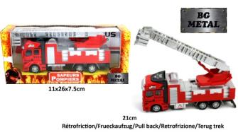 Feuerwehrauto 21cm mit Rückziehantrieb