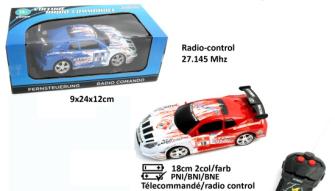 Rennauto 2 Farben ass 18cm batteriebetrieben mit Fernbedienung