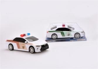 Auto Polizei mit Antriebsmechanismus 2 Farben ass 34.5x15.5x14cm