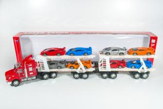 Transporter mit 8 Sportwagen 87x20.5x11cm