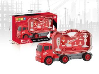 Spielset Transporter und Verkehr 10tlg 41x22x13cm