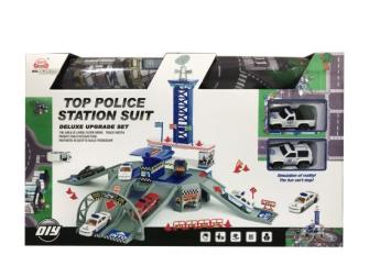 Spielset Polizeistation 10tlg mit Spielmatte 80x70cm
