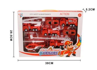 Spielset Feuerwehr 7 tlg 39x28.5x5.2cm