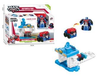 Spielset Transformer mit Station 30x24x6cm