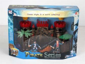 Spielset Piraten mit Festung 10tlg 36x25.5x14cm