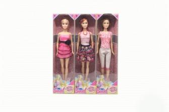 Puppe biegsam mit Fashion Outfit 3ass 30x5x5cm