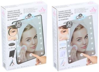 Kosmetikspiegel 16 LED 2ass 21,8x16,8x5.5cm