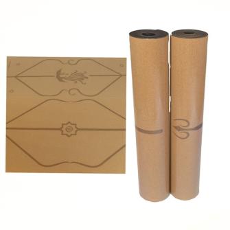 Yogamatte Kork/Gummi 5mm 61x180cm Laser bedruckt ass
