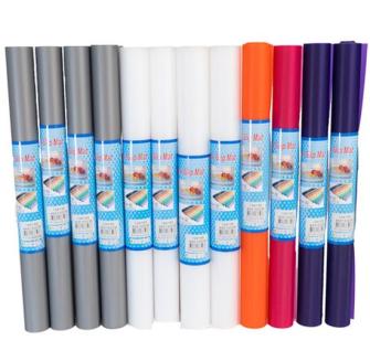 Antirutschmatte gerollt 45x150cm 5 Farben zufällig gemischt 350g/m2