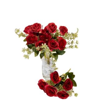 Rosenstrauss 2erSet mit 6 Rosen dunkelrot