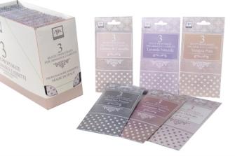 Duftsäckchen 3erSet 10x19.5cm Lavendel, Moschus, Talkum,Vanille, Zitrone-Zimt, Granatapfel